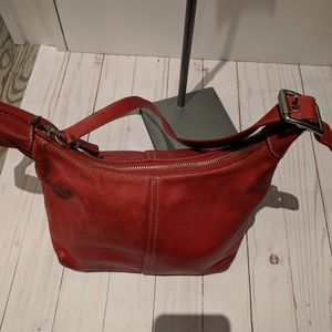 Coach Handbag leather red